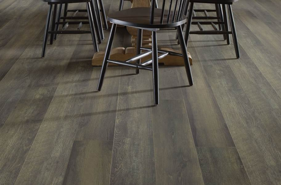 "Shaw Paragon XL HD Plus 7"" Rigid Core Vinyl Planks - Black Oak Coffee"