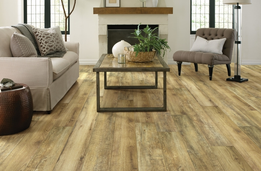 "Shaw Paragon XL HD Plus 7"" Rigid Core Vinyl Planks - Hazelnut Oak"