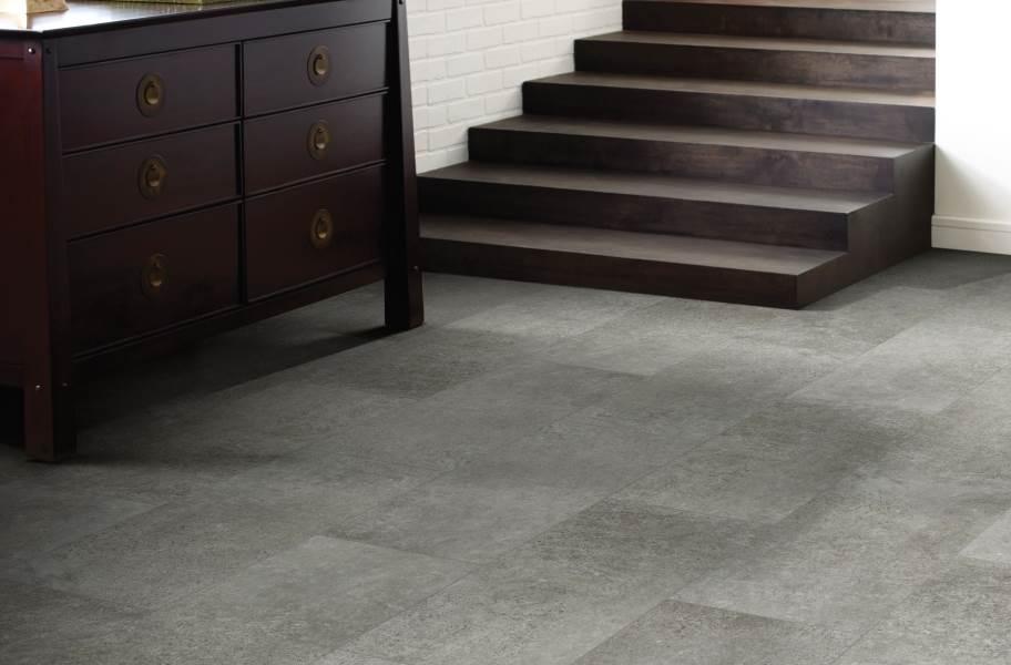 """Shaw Paragon Tile Plus 12"""" Rigid Core Vinyl Planks - Cobalt"""