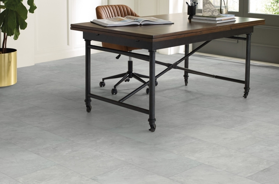 "Shaw Paragon Tile Plus 12"" Rigid Core Vinyl Planks - Pearl"