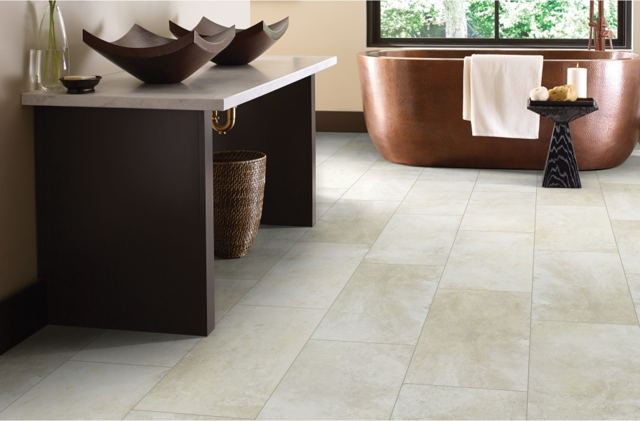 "Shaw Paragon Tile Plus 12"" Rigid Core Vinyl Planks - Shale"