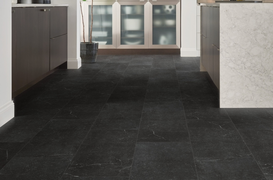 "Shaw Paragon Tile Plus 12"" Rigid Core Vinyl Planks - Smoke"