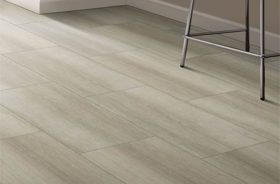 "Shaw Paragon Tile Plus 12"" Rigid Core Vinyl Planks - Ash"