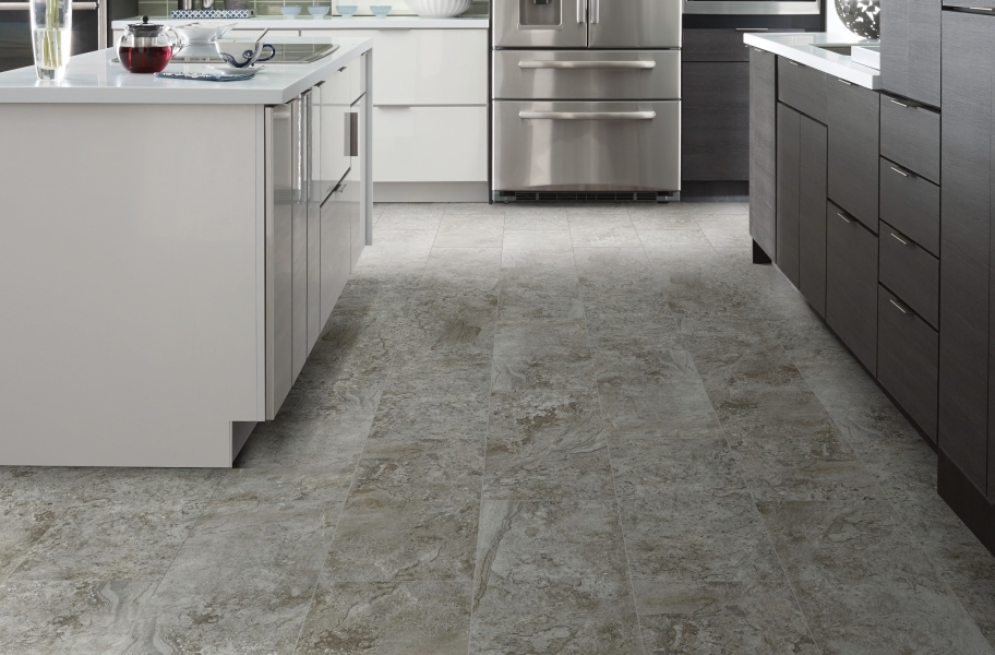 "Shaw Paragon Tile Plus 12"" Rigid Core Vinyl Planks - Clay"
