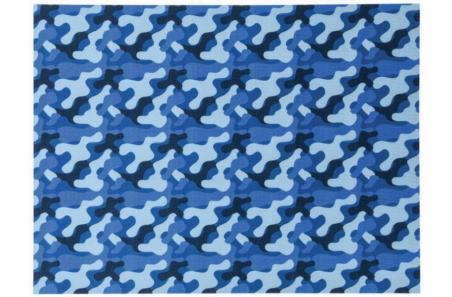 Camo Indoor Outdoor Rug - Blue