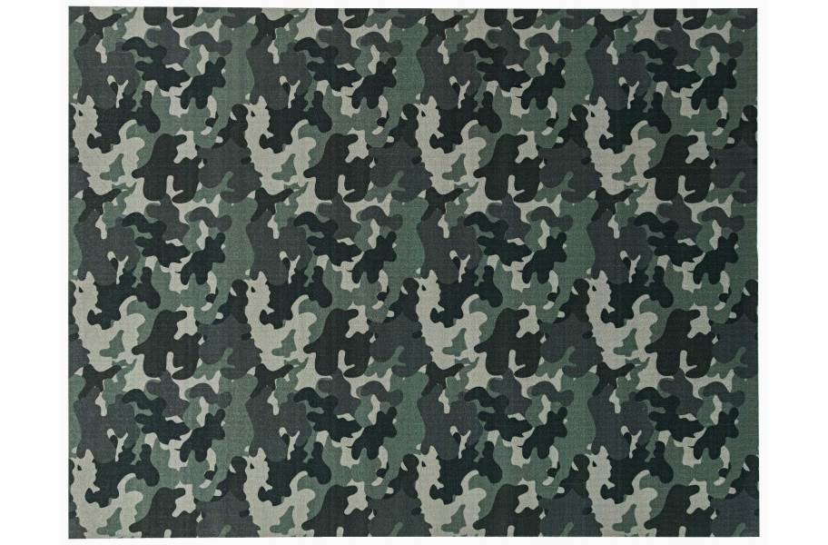 Camo Indoor Outdoor Rug - Green
