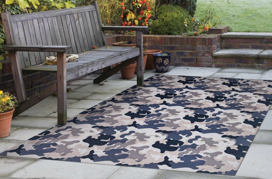 Camo Indoor Outdoor Rug