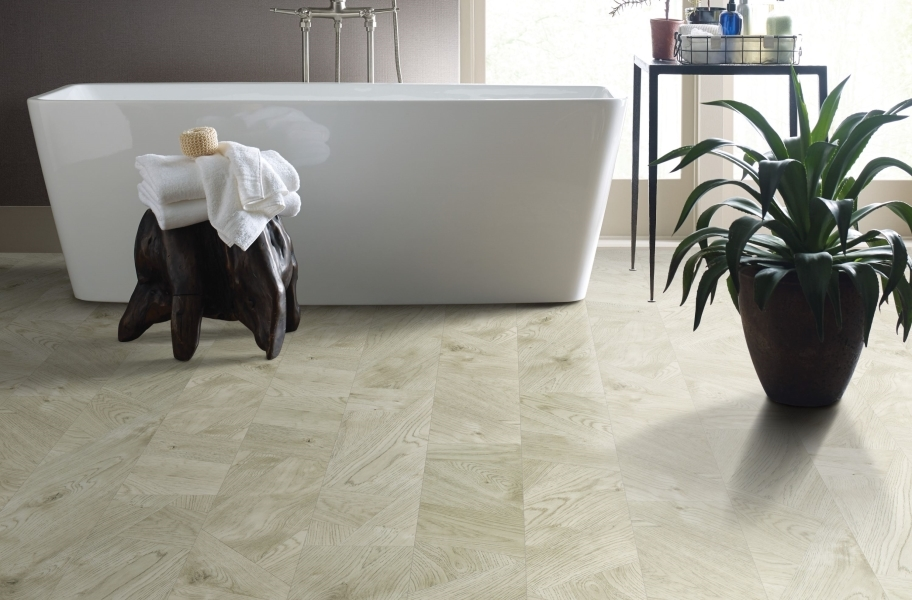 "Shaw Tenacious HD Plus 7"" Rigid Core Vinyl Planks - Bamboo"