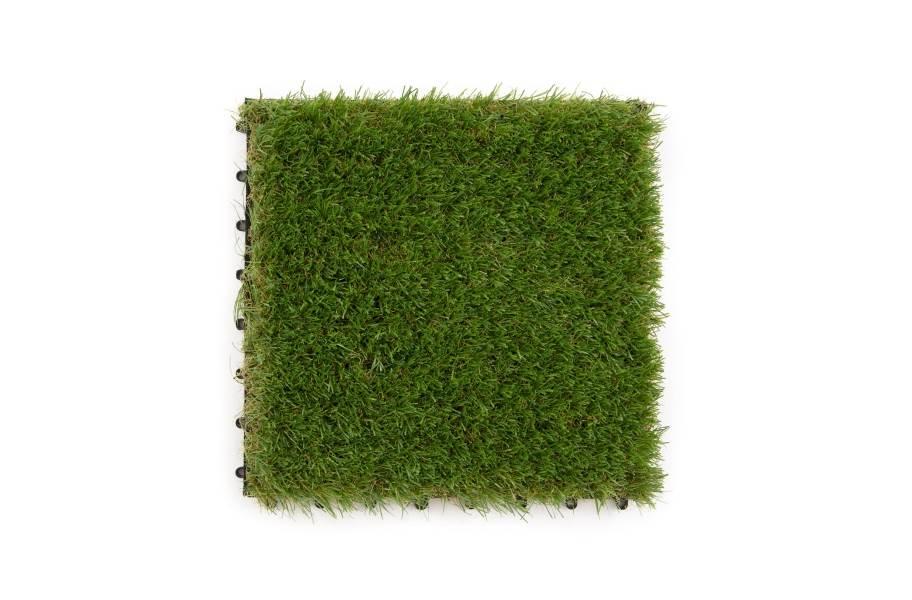 Helios Artificial Grass Deck Tiles - Green