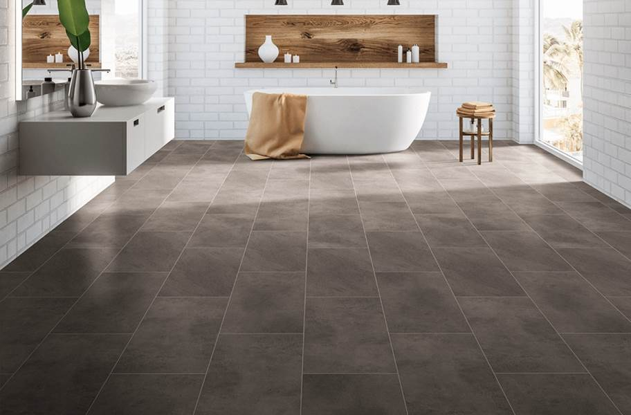 "Pietra 12"" Rigid Core Vinyl Planks - Shale"