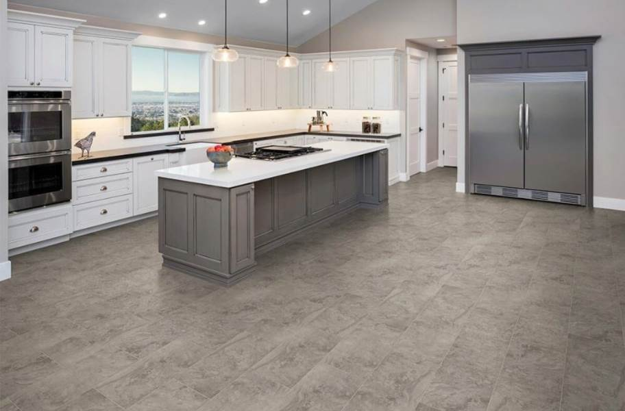 "Pietra 12"" Rigid Core Vinyl Planks - Granite Grey"