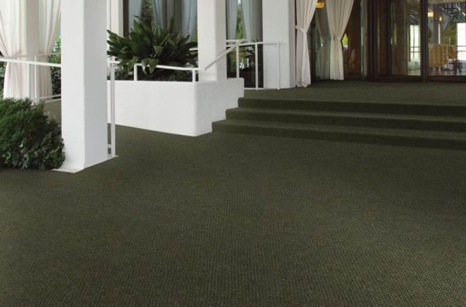 Shaw Succession II Walk-Off Carpet Tile - Crushed Olive