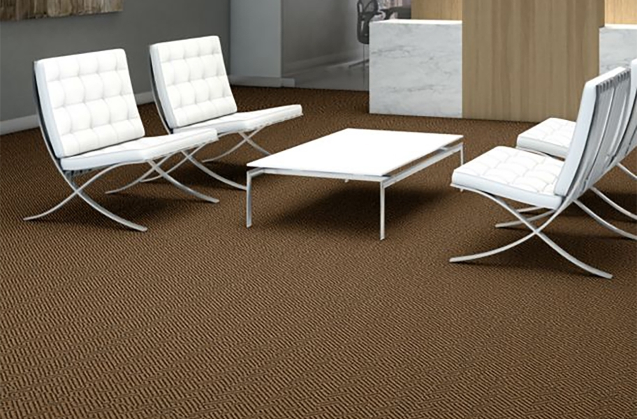 Shaw Tread On Me Walk-Off Carpet Tile - Mesa Brown