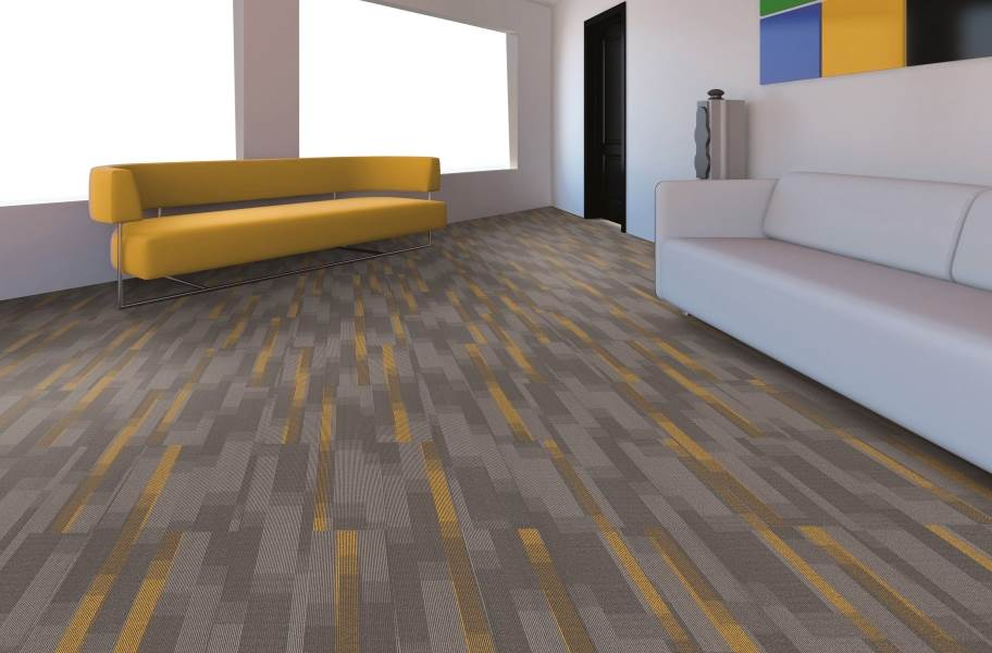 Pentz Amplify Carpet Planks - Medallion