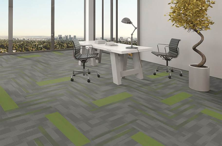 Pentz Colorburst Carpet Planks - Parrot with Amplify Plank
