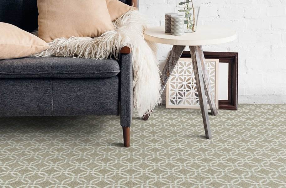 Joy Carpets Intersect Carpet - Ivory