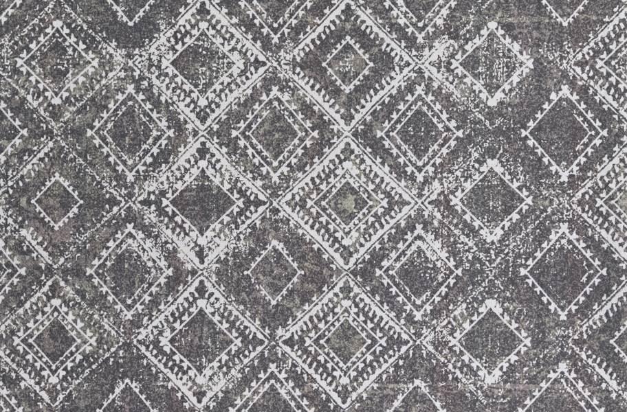 Ikat Indoor Outdoor Area Rug - Grey and Black