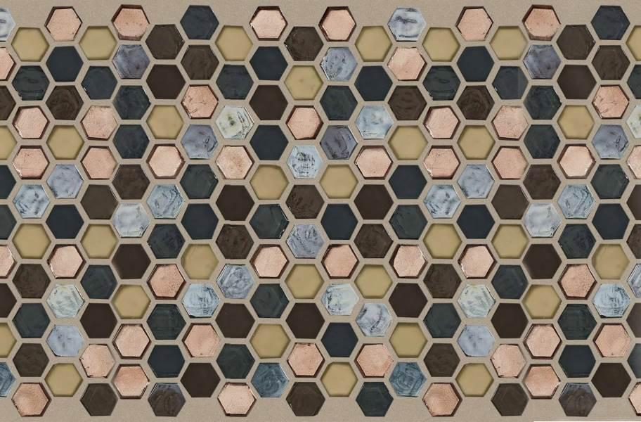 Shaw Molten Glass Mosaic - Hex Bronze