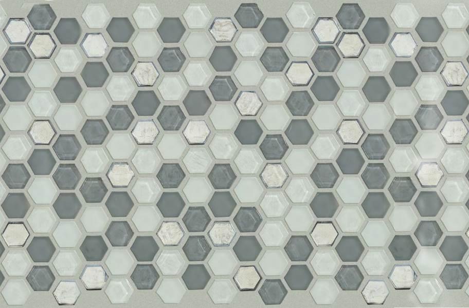 Shaw Molten Glass Mosaic - Hex Nickel
