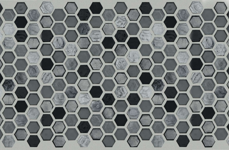 Shaw Molten Glass Mosaic - Hex Obsidian