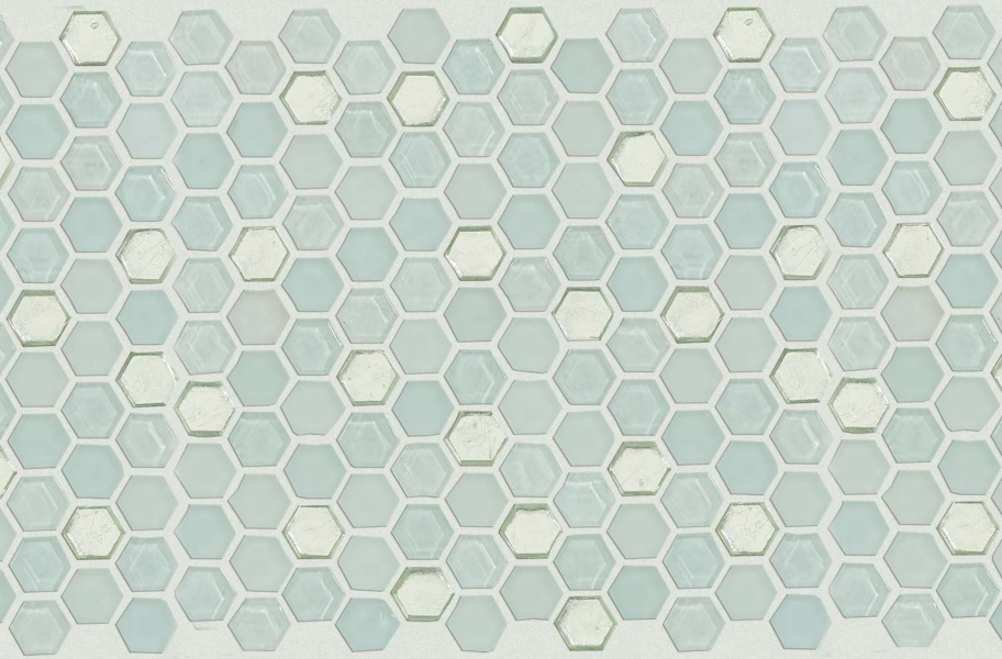 Shaw Molten Glass Mosaic - Hex Platinum