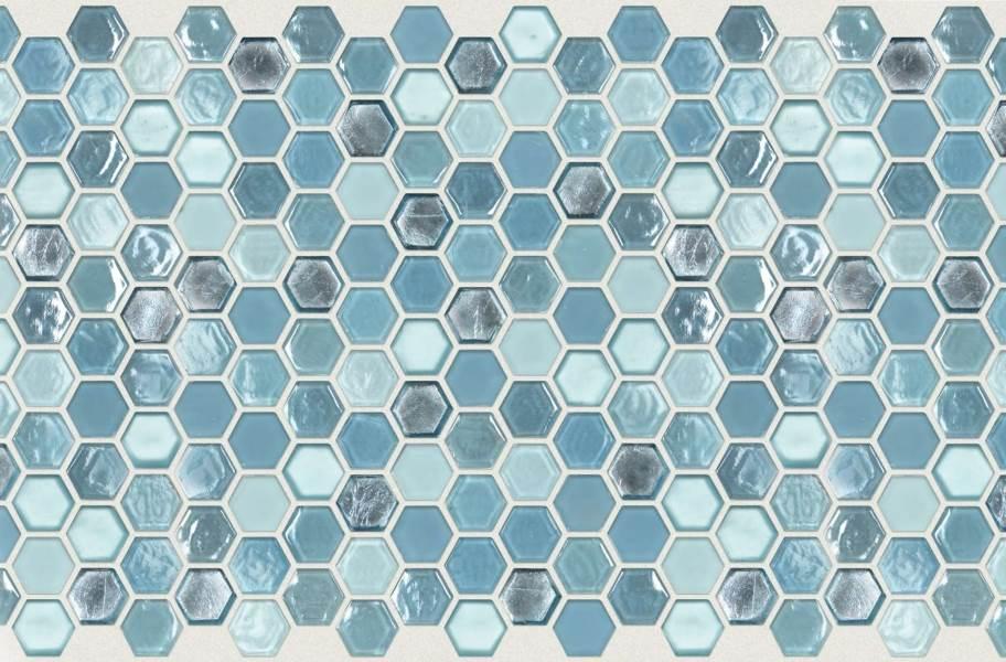 Shaw Molten Glass Mosaic - Hex Santorini