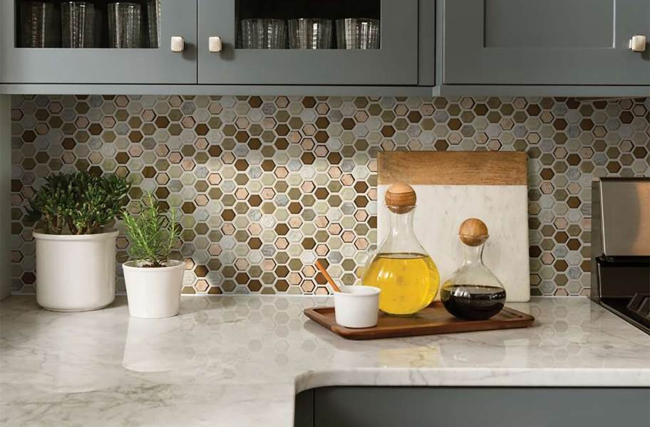Shaw Molten Glass Mosaic - Hex Penny