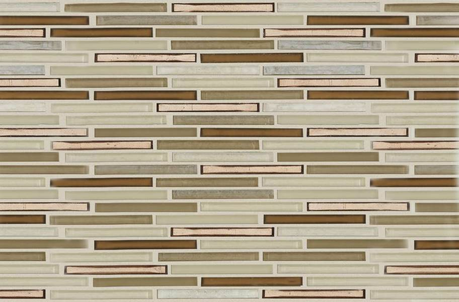 Shaw Molten Glass Mosaic - Linear Penny