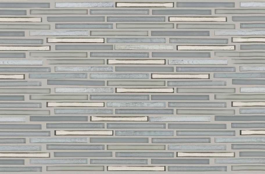 Shaw Molten Glass Mosaic - Linear Pewter