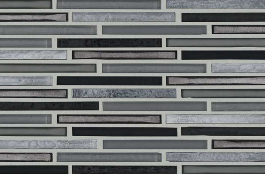 Shaw Molten Glass Mosaic - Linear Obsidian