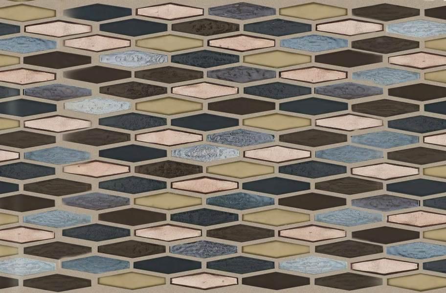 Shaw Molten Glass Mosaic - Stretch Hex Bronze