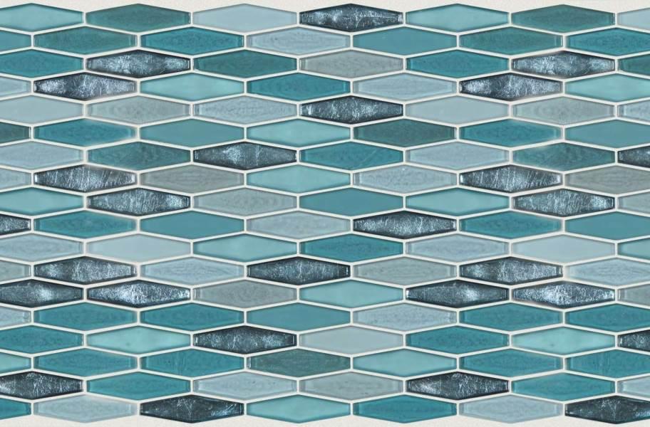 Shaw Molten Glass Mosaic - Stretch Hex Hydra