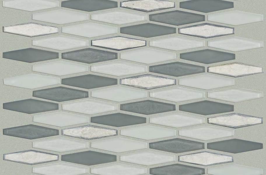 Shaw Molten Glass Mosaic - Stretch Hex Nickel