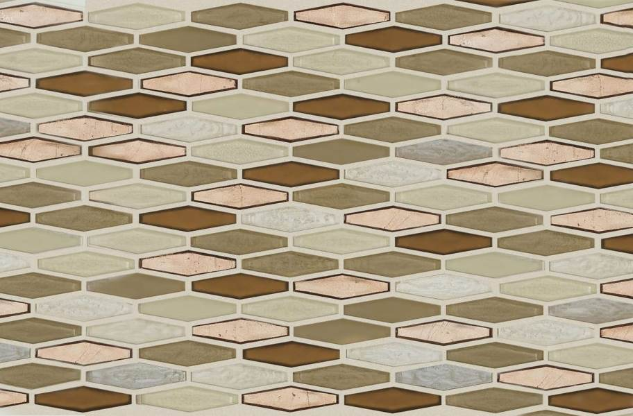 Shaw Molten Glass Mosaic - Stretch Hex Penny