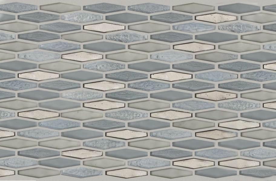 Shaw Molten Glass Mosaic - Stretch Hex Pewter