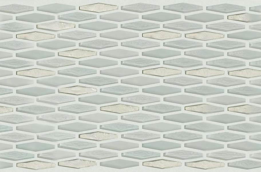 Shaw Molten Glass Mosaic - Stretch Hex Platinum