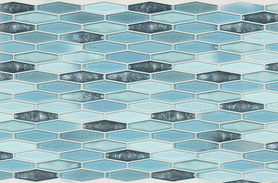 Shaw Molten Glass Mosaic - Stretch Hex Santorini