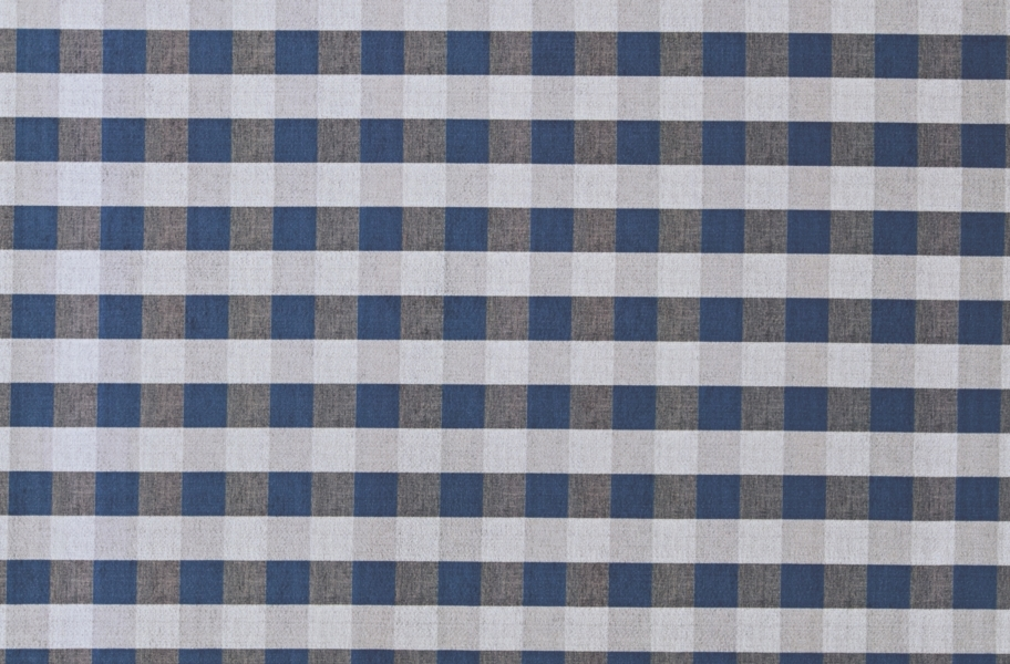 Gingham Indoor Outdoor Area Rug - Blue and White