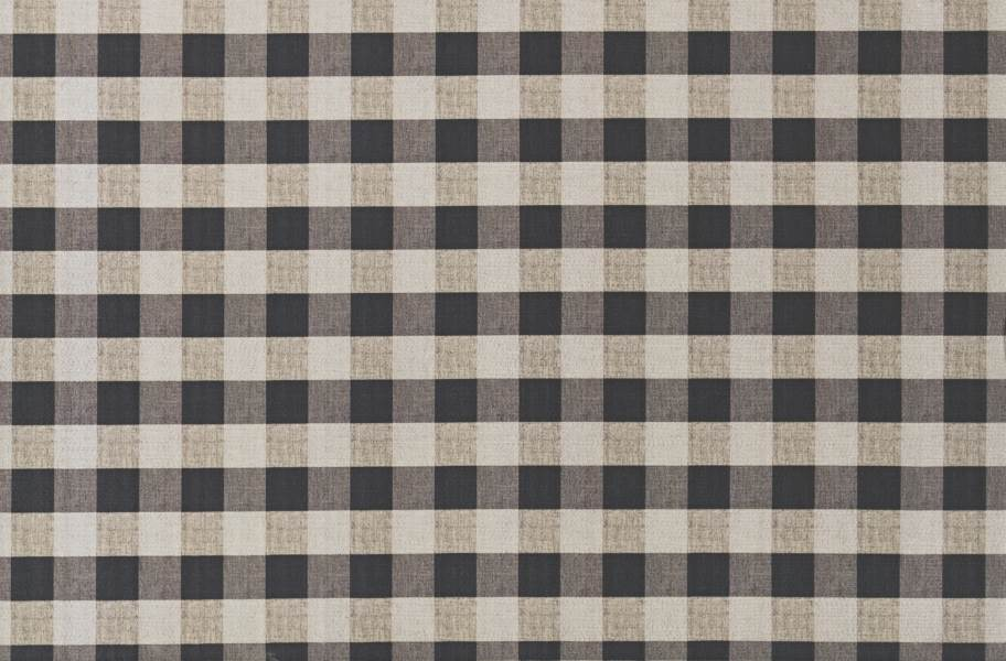 Gingham Indoor Outdoor Area Rug - Black and Taupe
