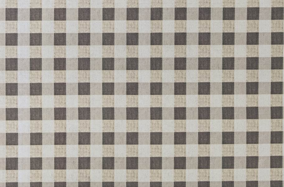 Gingham Indoor Outdoor Area Rug - Brown and Taupe