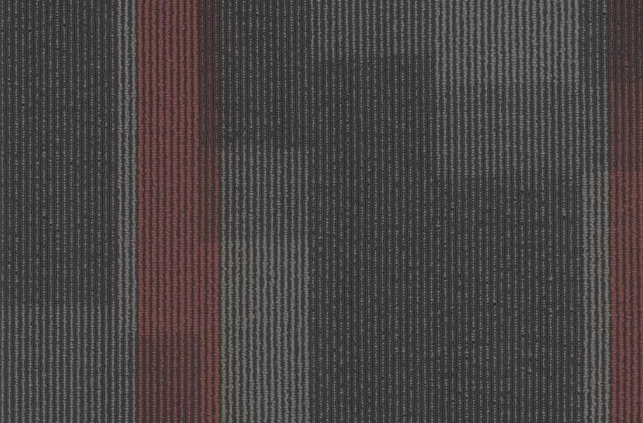 Pentz Magnify Carpet Tiles - Crimson