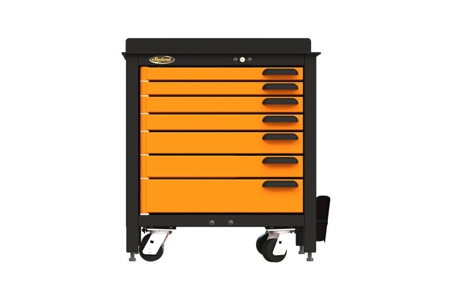 Swivel Storage 7-Drawer Rolling Workbench