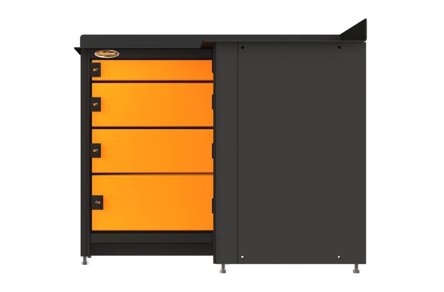 Swivel Storage Pro 81 4-Drawer Corner Tool Storage