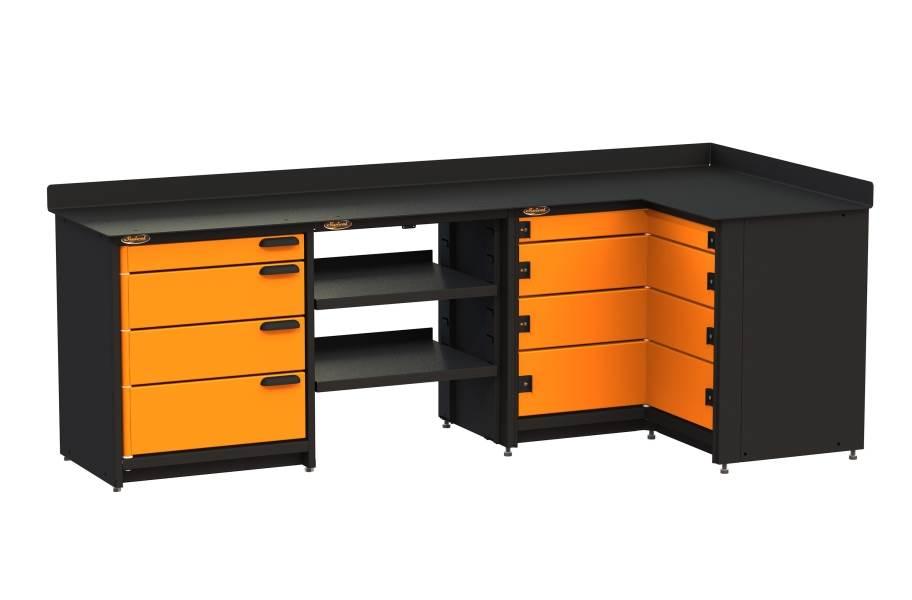 Swivel Storage Corner Unit w/Shelves