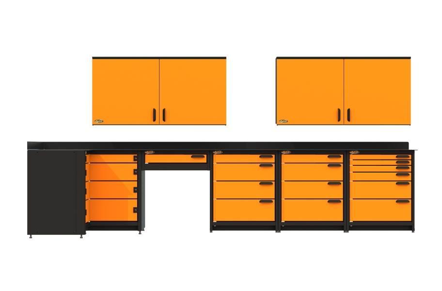 Swivel Storage Corner Unit XL w/Wall Cabinets