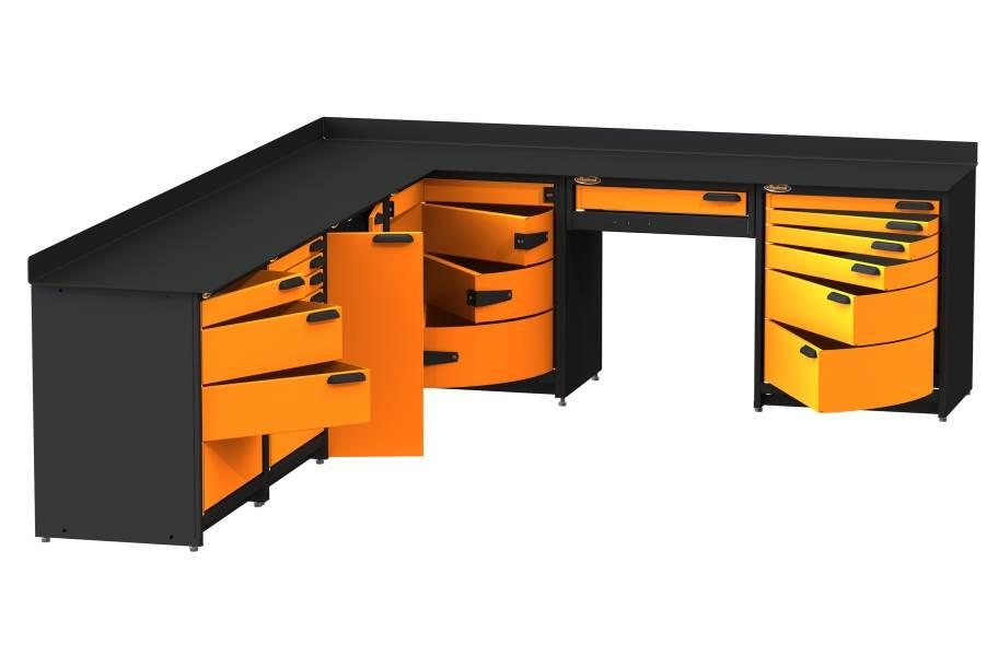 Swivel Storage Corner Unit XL w/Base Cabinet