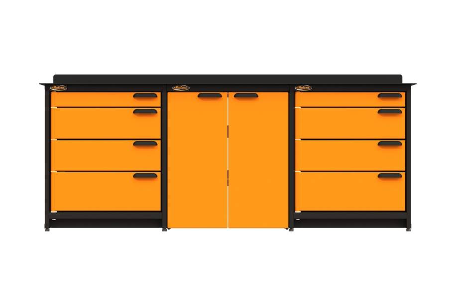Swivel Storage Workbench w/Base Cabinet