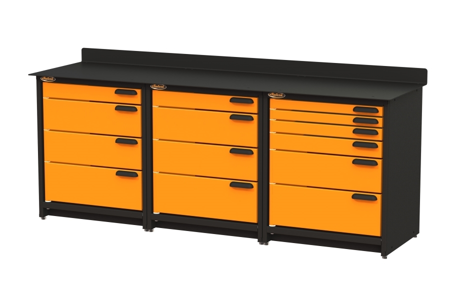 Swivel Storage Workbench w/Drawers - Triple