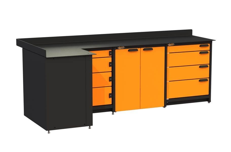 Swivel Storage Corner Unit w/Base Cabinet