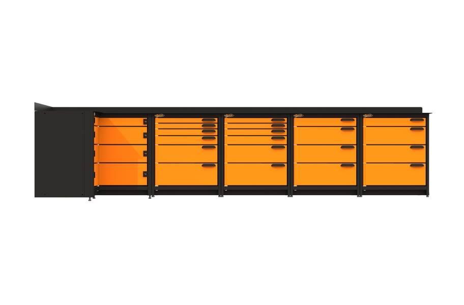 Swivel Storage Corner Unit XL w/All Drawers